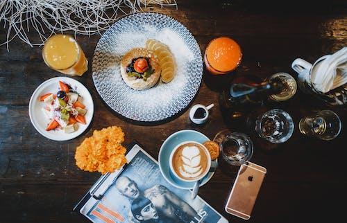 インドア, オーバーヘッド, おいしい, オレンジの無料の写真素材
