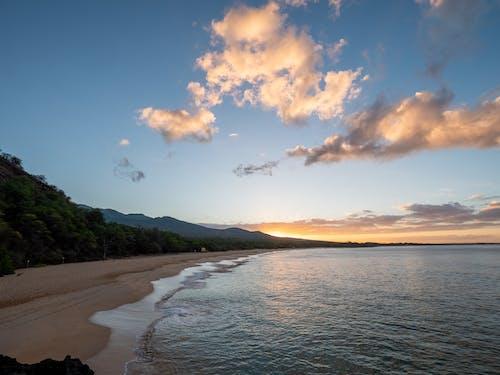 คลังภาพถ่ายฟรี ของ การท่องเที่ยว, ชายหาด, ดวงอาทิตย์, ตะวันลับฟ้า