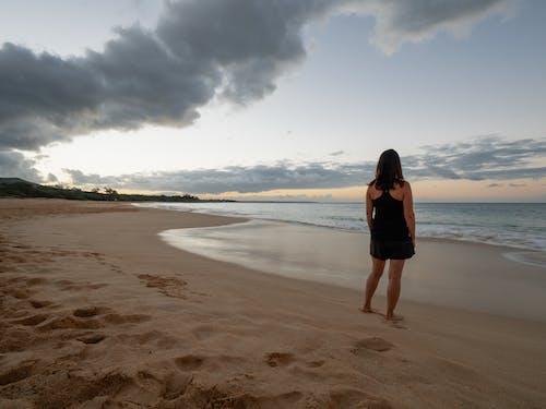 คลังภาพถ่ายฟรี ของ การท่องเที่ยว, คลื่น, ชายหาด, ดวงอาทิตย์