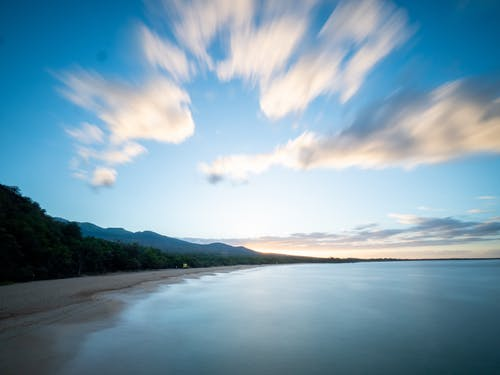 Бесплатное стоковое фото с вода, гора, закат, лето