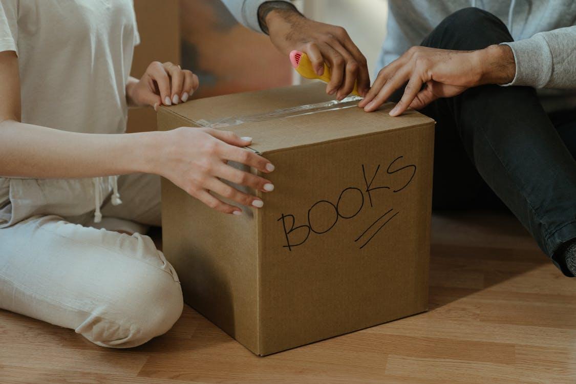 Umzug, box, packen