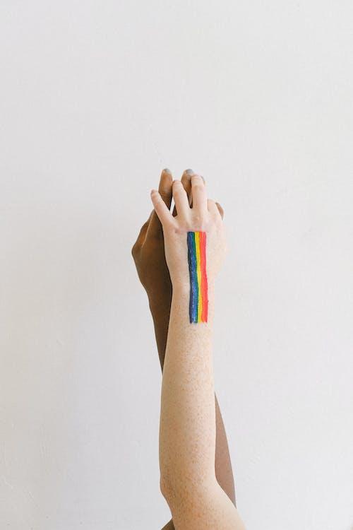 Immagine gratuita di affetto, afro-americano, arcobaleno