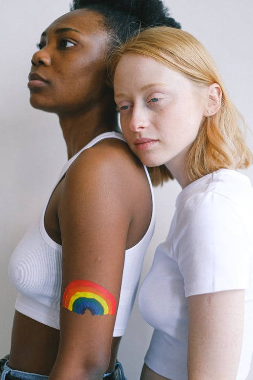 Women With Gay Pride Body Paint