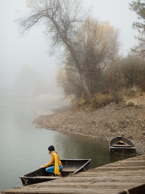 Photos gratuites de arbre, automne, bassin, bateau