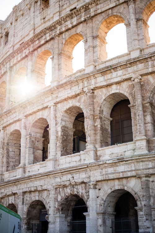 Colosseum exterior on sunny day