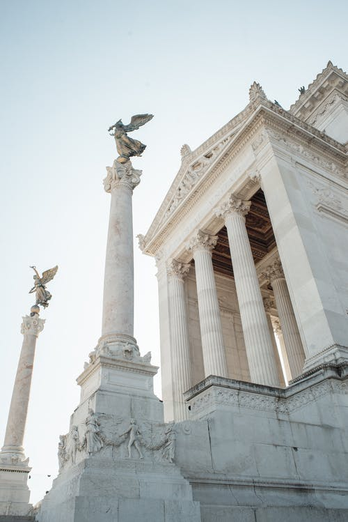 Element of amazing Vittoriano memorial in Rome