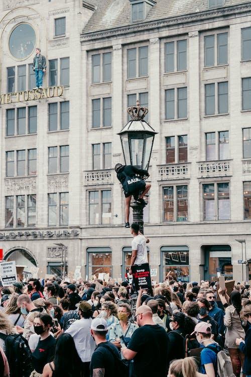 Immagine gratuita di amsterdam, arrampicata, blm, città
