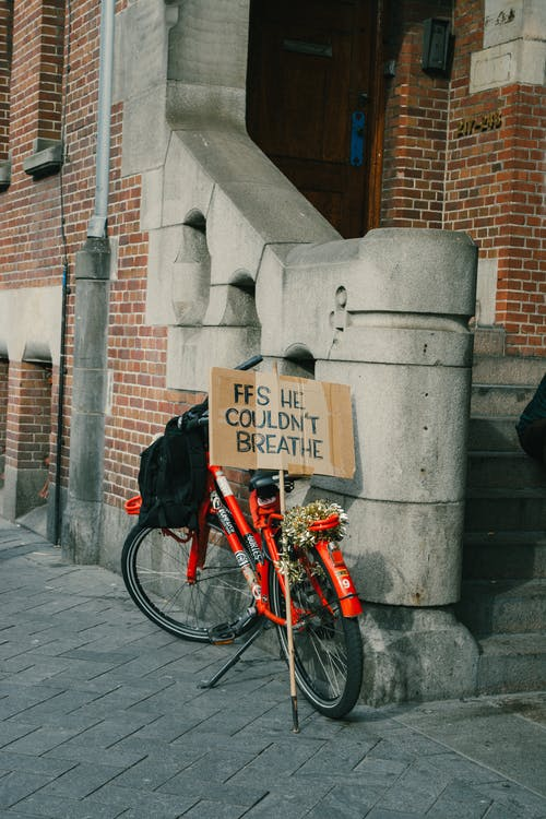 Sign Next to Bicycle