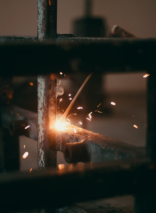 Free stock photo of industry, metal, sparkles, work