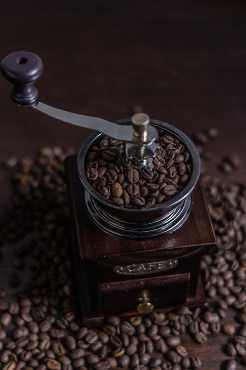 Brown Wooden Coffee Beans Grinder