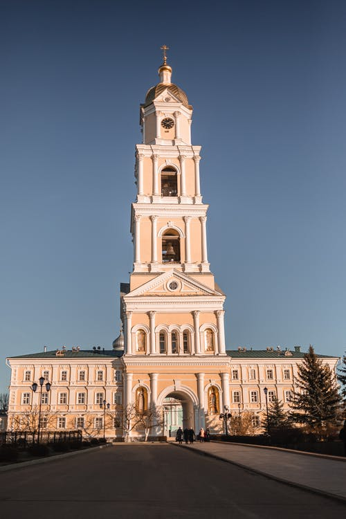 High bell tower of monastery