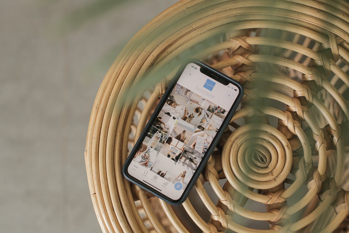 Smartphone Displaying Photos in App