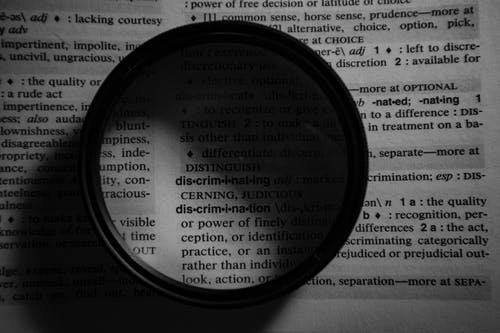 Lens on top of a Dictionary