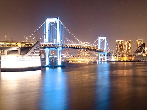 Free stock photo of Bay Bridge, long exposure