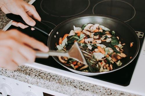 คลังภาพถ่ายฟรี ของ กระทะ, การจัดเตรียม, การทำอาหาร, การปรุงอาหาร