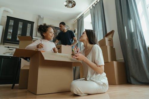 アパート, カートン, クリエイティブプロセス, ハッピーの無料の写真素材