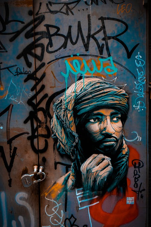 Graffiti of Man with Turban