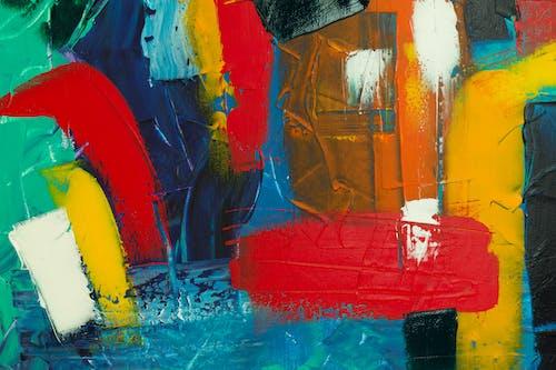 Бесплатное стоковое фото с Абстрактная живопись, абстрактный, акриловая краска, акриловый