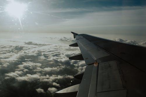 구름, 비행기, 비행기 날개, 비행기 여행의 무료 스톡 사진