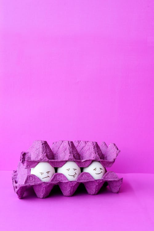 Free stock photo of chicken eggs, colorful eggs, egg, egg carton