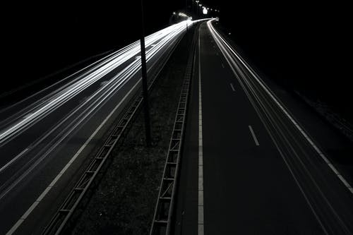 Gray Asphalt Road during Nighttime
