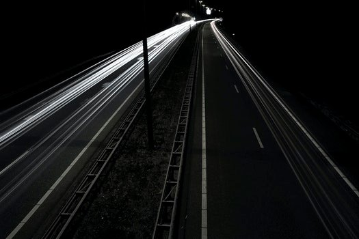 Free stock photo of road, lights, night, street