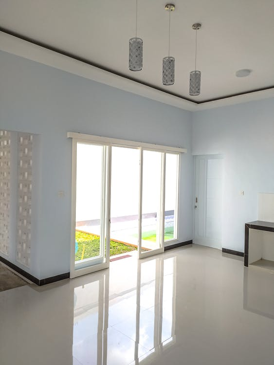 Spacious hallway with simple design in daytime