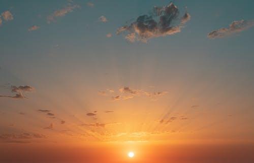 A Beautiful Sunset Sky with Sun