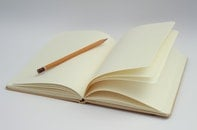 notebook, writing, pencil