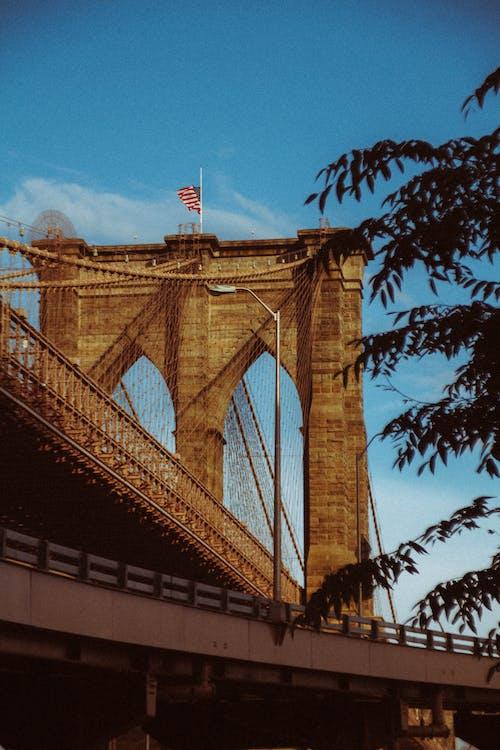 Concrete arched construction on old bridge