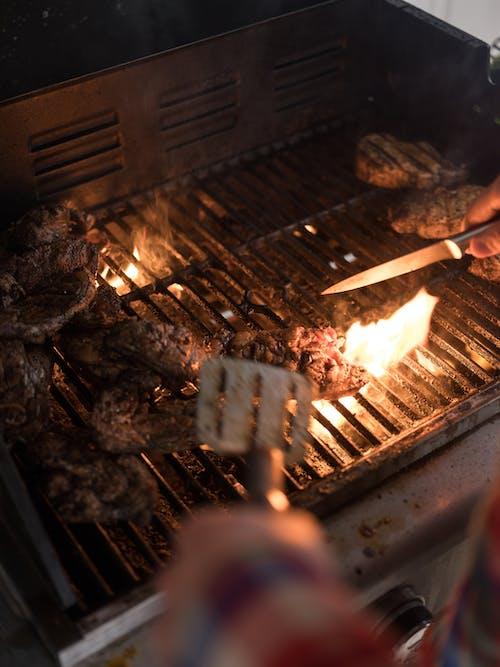 Foto stok gratis Abu, alat barbecue, alat bq