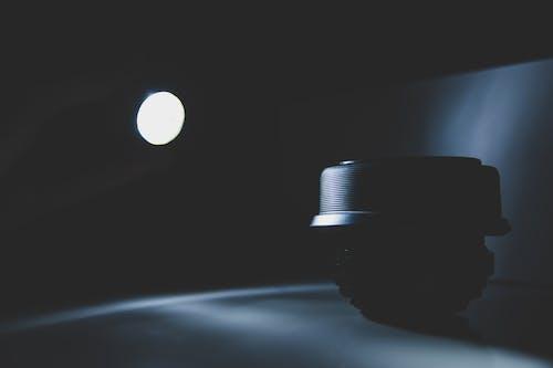 Foto profissional grátis de dentro de casa, escuro, espinha, holofote