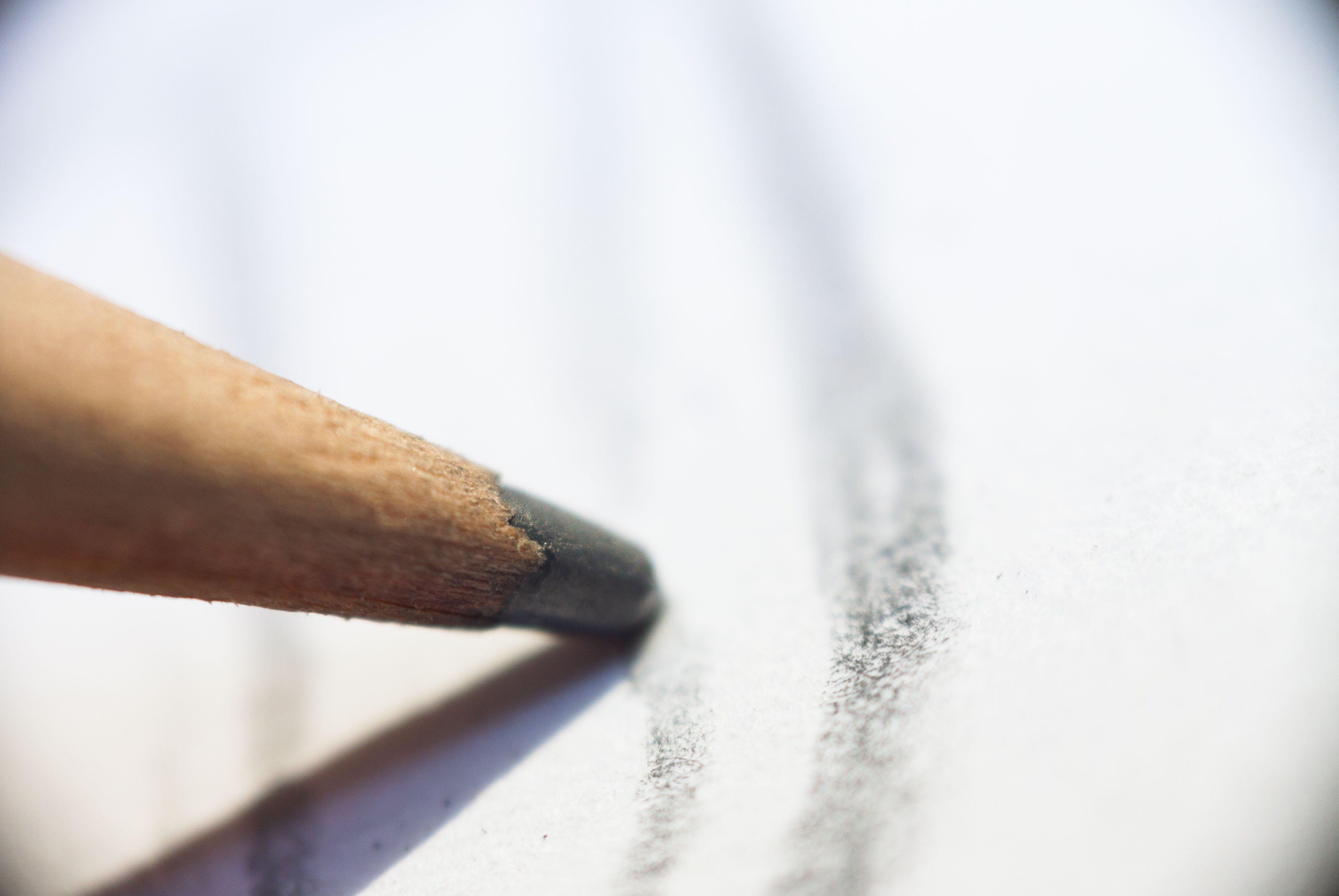 of #2, drawing, graphite, macro