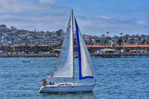 Kostnadsfri bild av segelbåt, segling, vatten