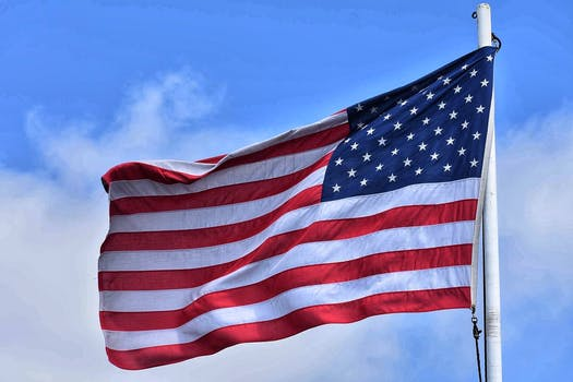 Free stock photo of sky, clouds, united states of america, flag