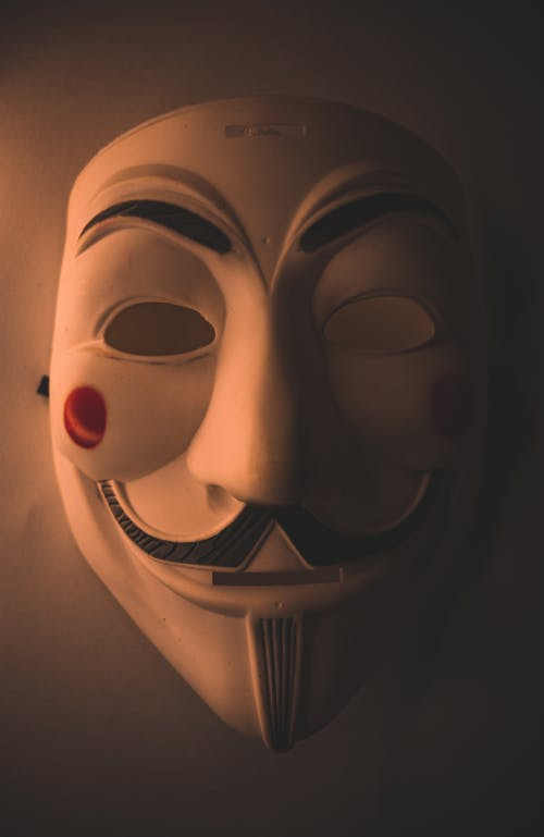 Close-Up Photo of Guy Fawkes Mask