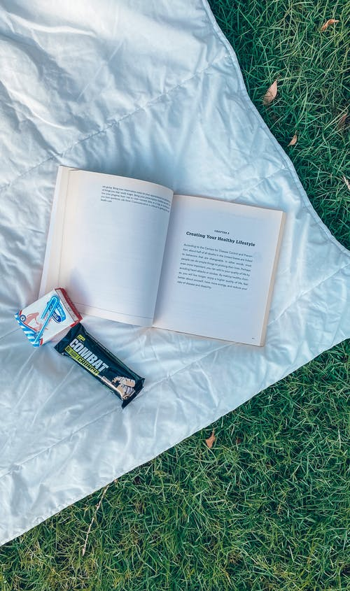 Free stock photo of book, healthy breakfast, morning