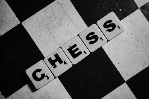 Scrabble Tiles Spelling Chess