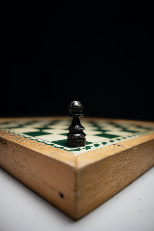 Close Up of a Pawn on a Chess Board