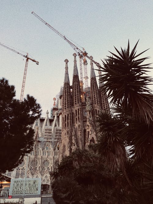 Repairing works of old Gothic tower