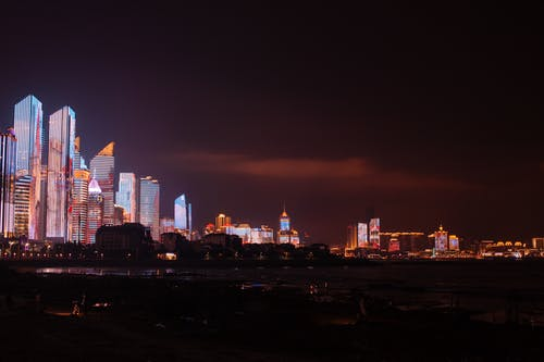 Illumination of modern megalopolis at night
