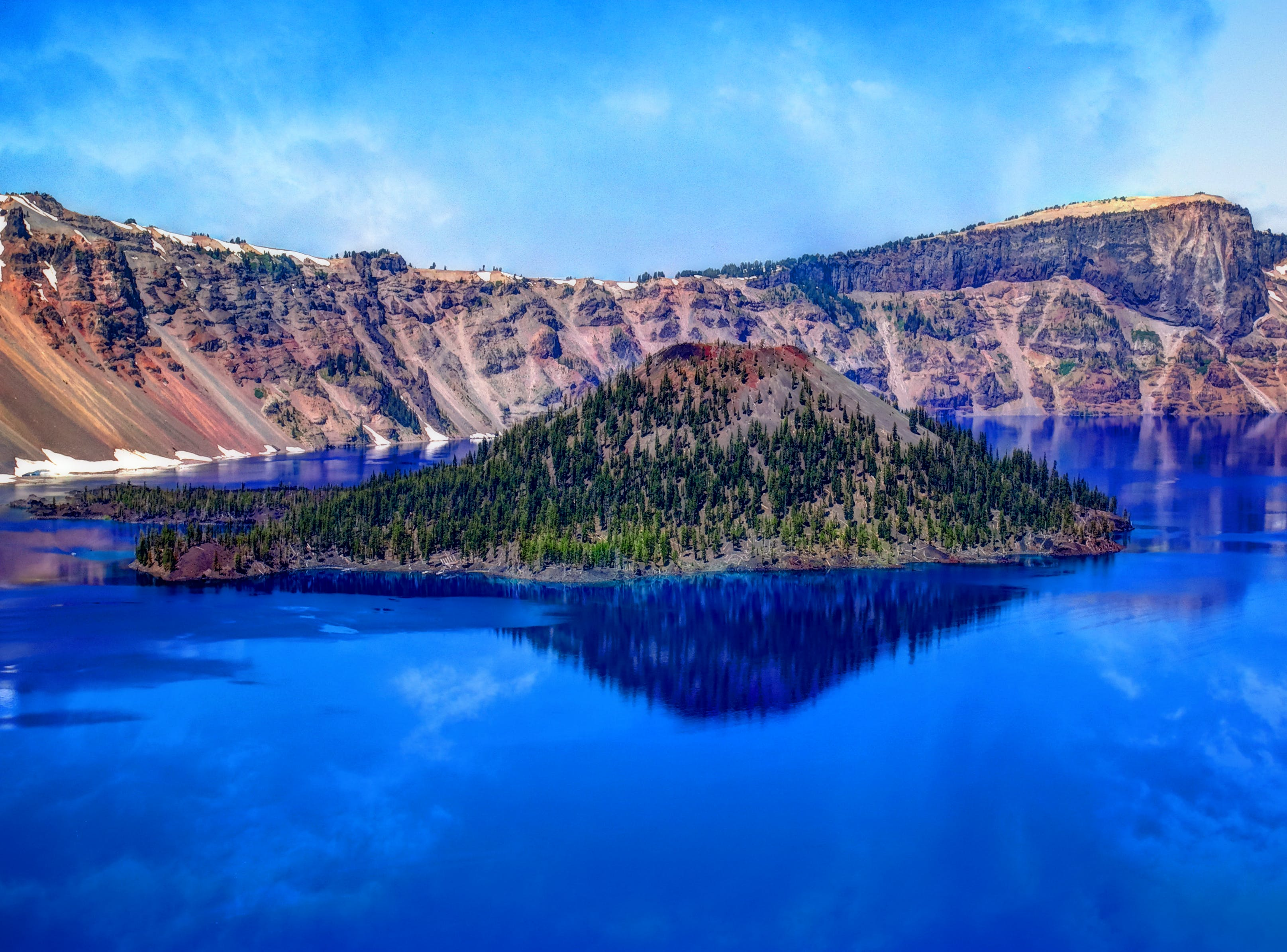 Free stock photo of mountains, nature, lake, island
