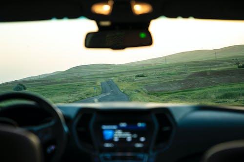 คลังภาพถ่ายฟรี ของ มุมมองรถ
