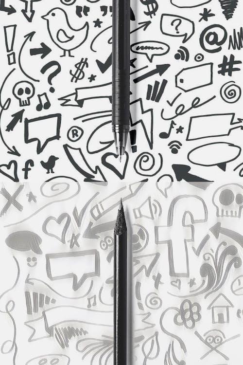 Black Click Pen on White Surface