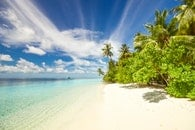 sea, sky, beach