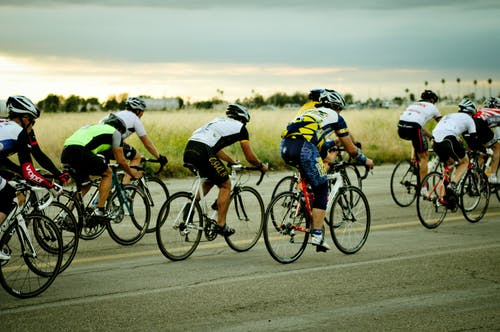 Free stock photo of athlete, athletes, colorful, cycling