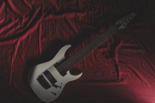 Free stock photo of bed, music, white, ibanez