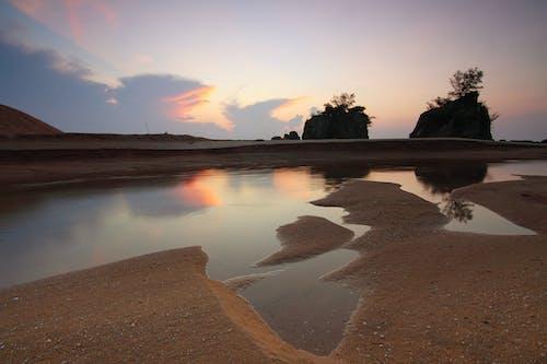 doğa, gün doğumu, kırsal, kum içeren Ücretsiz stok fotoğraf