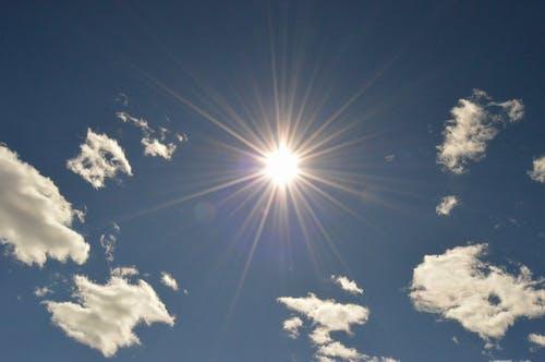 Free stock photo of blue, clouds, sky, sun