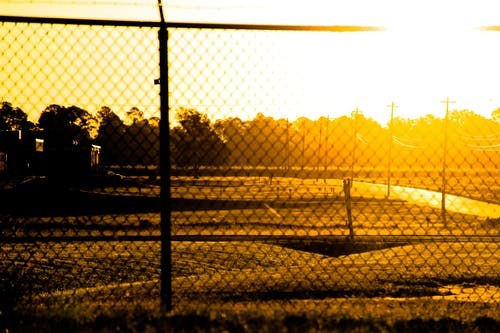 Free stock photo of barbed wire, chain link fence, fence